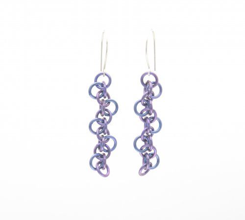 Niobium Zigzag Earrings
