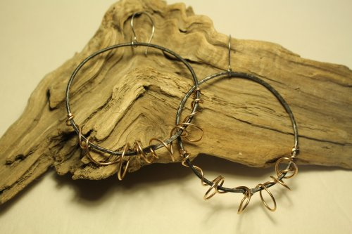 Twisted Wire Hoop Earrings