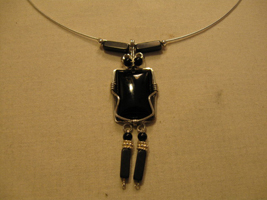 TomBoy Onyx Necklace with Earrings