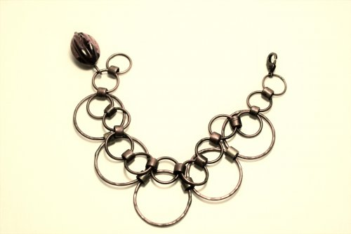 Double Wire Link Chain Bracelet