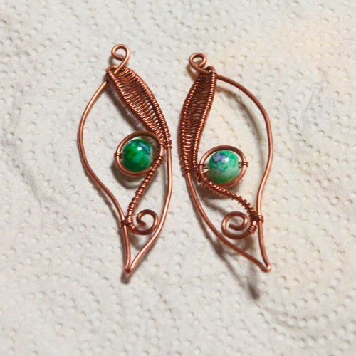 Woven Leaf Earrings