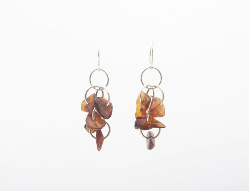 Amber Chain Earrings