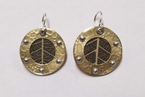 Steampunk Style Leaf Earrings
