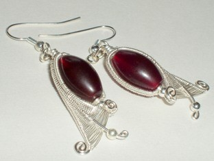 Fuchsia Bud Earrings