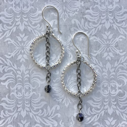 Sparkling Cup Chain Earrings