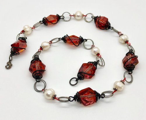 Winter Red Necklace