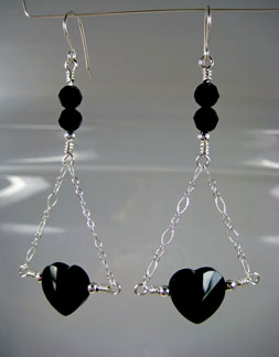 Chain Heart Earrings