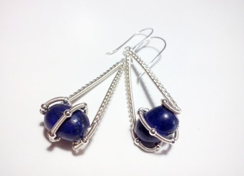 Twisted Lapis Earrings