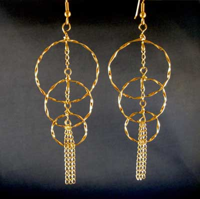 Twisted Circles Earrings