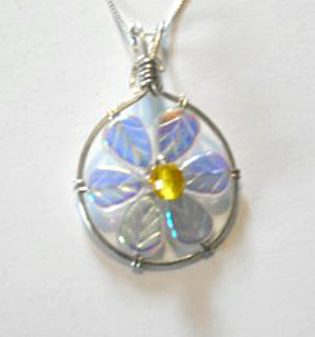 Jill Gentry's Crazy Daisy Pendant, Contemporary Wire Jewelry. Wire Wrapping, Wrapping, Wire Wrapping Jewelry. By now you've already seen the pattern for, and maybe even made, the Crazy Daisy earring design I came up with for a local gallery.