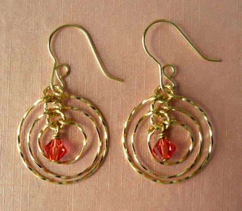Tri Circle Earrings