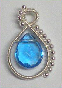 Beaded Briolette Pendant