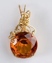 Dale Armstrong's Wrapping a Pear-Shaped Cut Stone - , Classic Wire Jewelry, Wire Wrapping, Wrapping, Wire Wrapping Jewelry,  Prong Frame Pendant