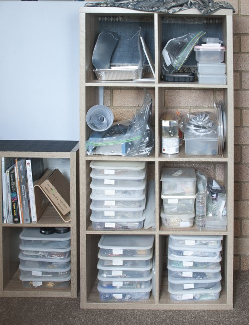 Kylie Jones's How to Share Your Workspace with the Family Room - , General Education, Design, bins