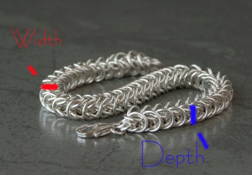 Kylie Jones's Sizing a Chain Maille Bracelet - , General Education, Making Chain, Chain Making , bracelet depth