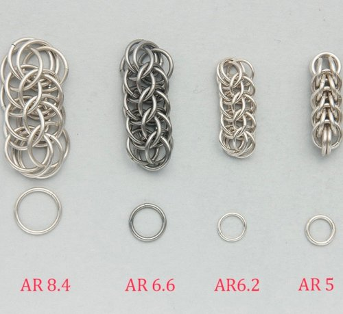 Designing with Chain Maille - Aspect Ratio for Full Persian Weave