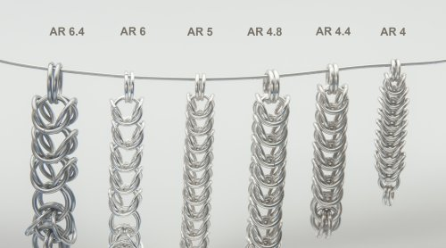 Designing with Chain Maille - Aspect Ratio for Box Chain.