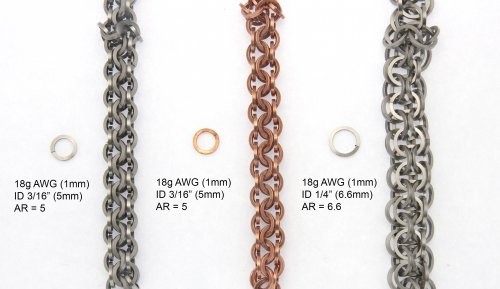 Using Square Wire Rings in Chain Maille