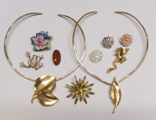 Wear Your Brooches on a Neckwire