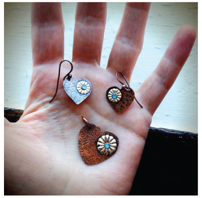 template components and heart pendant and earrings pattern a free