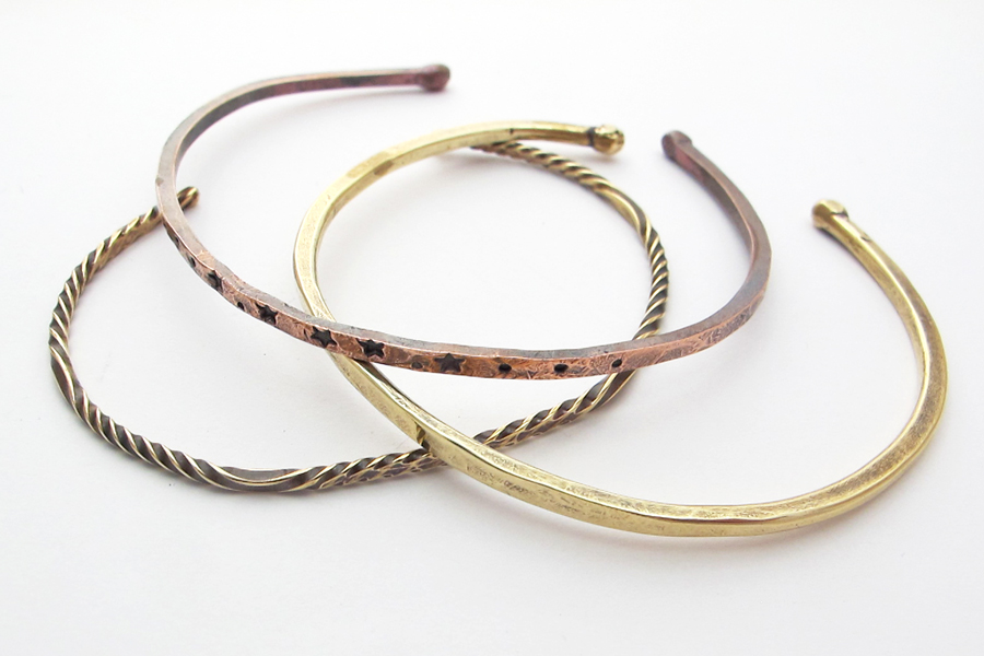 Twisted Forged Cuffs, a Free Wire Jewelry Pattern by Kate Richbourg ...