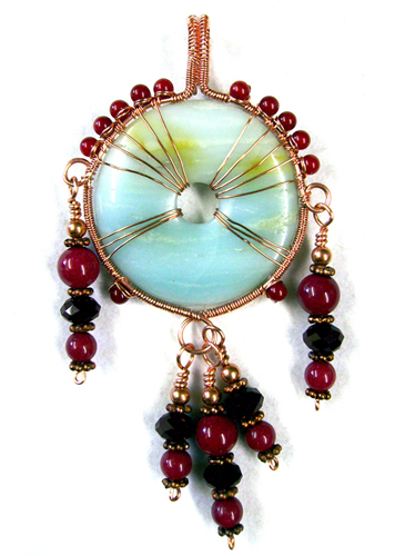 Spirit Pendant by Mary Bailey, a Free Wire Jewelry Pattern from WireJewelry.com