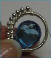 Beaded Briolette Pendant