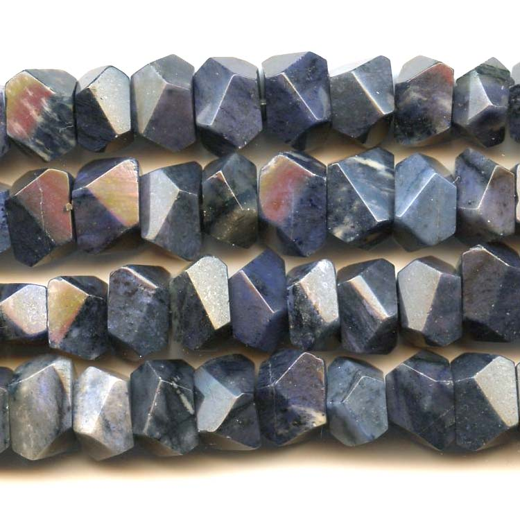 Faceted Dumortierite beads