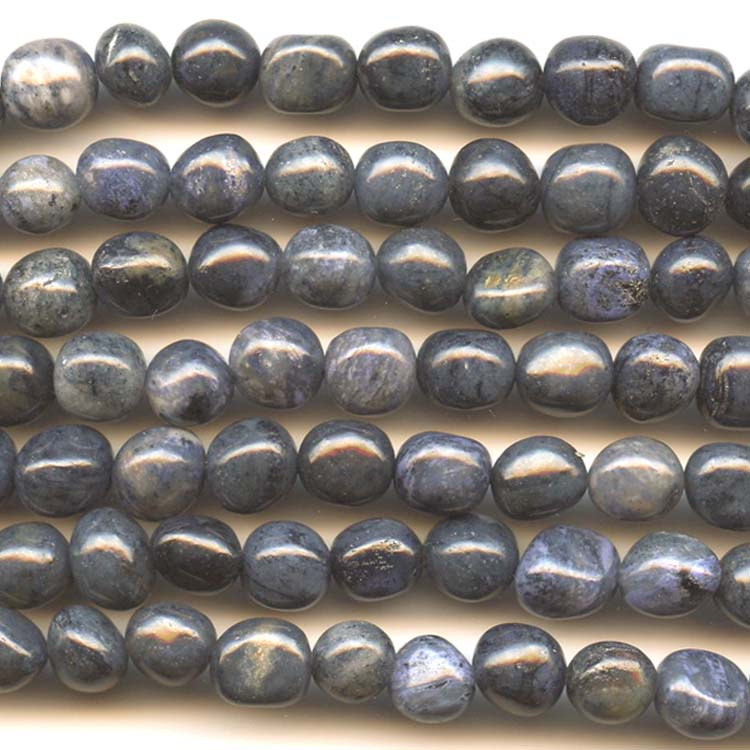 Dumortierite 8x10mm  Nugget Beads - 8 Inch Strand