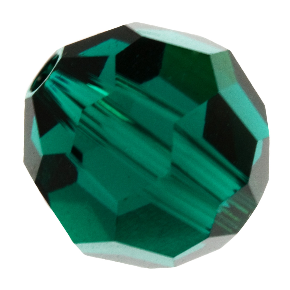 6mm Emerald 5000 Round Swarovski Crystal Beads - Pack of 10