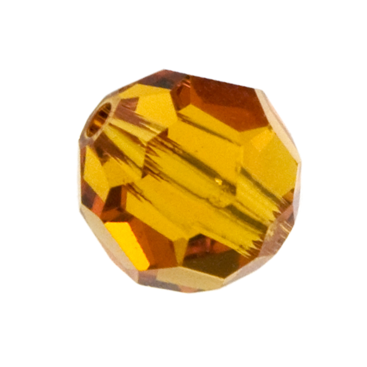 8mm Topaz 5000 Round Swarovski Crystal Beads - Pack of 6