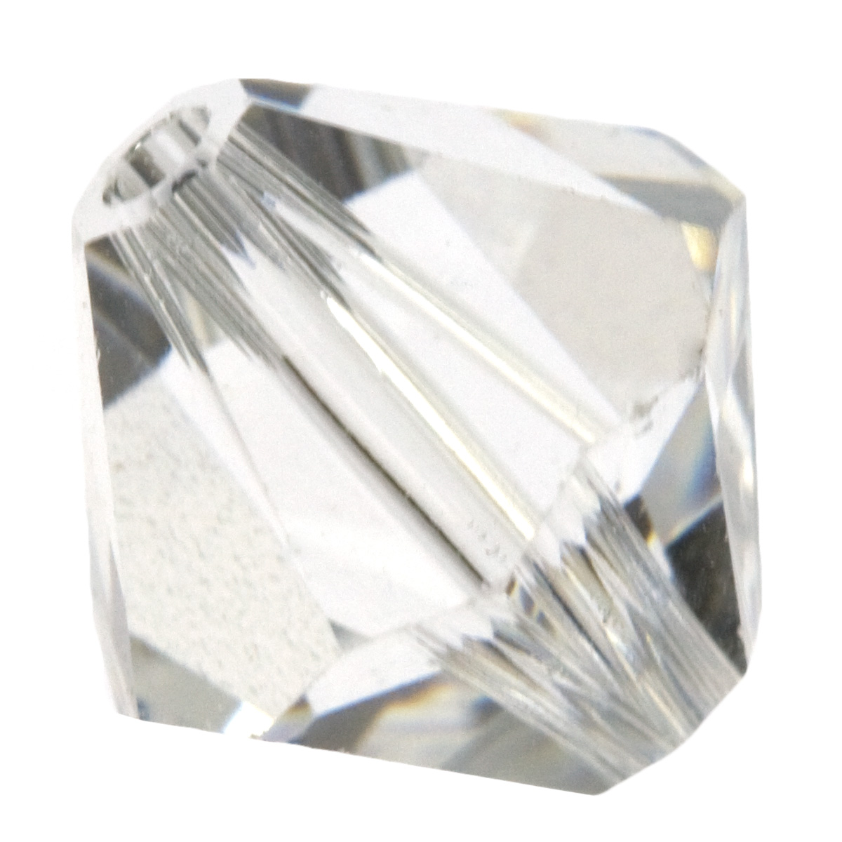 8mm Crystal 5328 Bi-Cone Swarovski Crystal Beads - Pack of 6: Wire