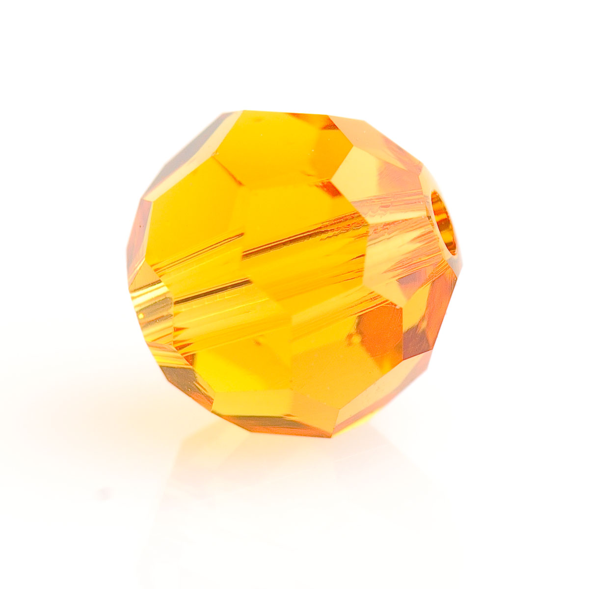 6mm Topaz 5000 Round Swarovski Crystal Beads - Pack of 10
