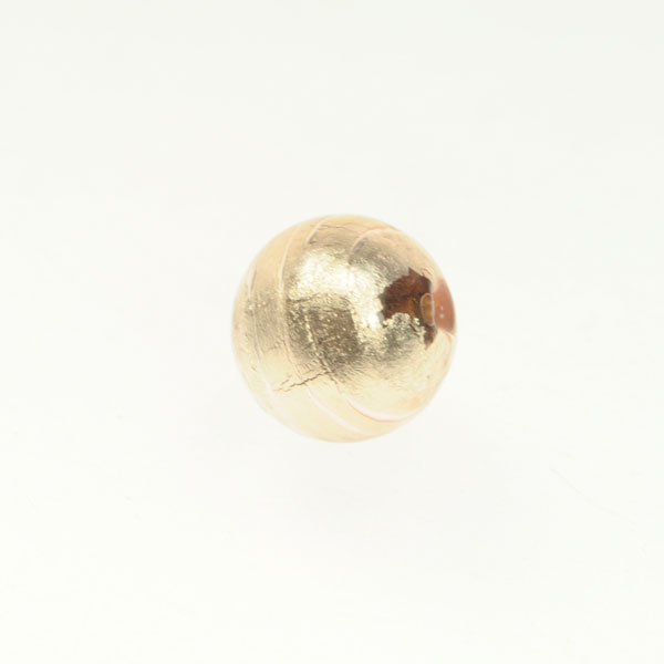 14mm Foil Round Champagne/White Gold, Size 14mm