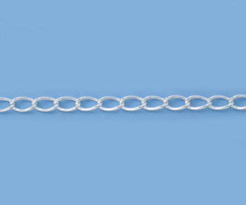 Silver Filled Curb Chain 5.25x3mm - 10 Feet