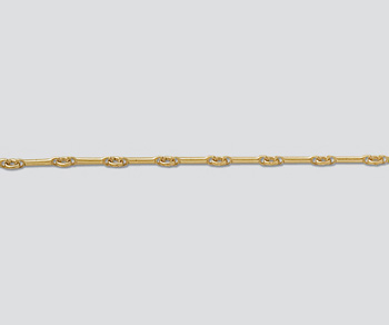 Gold Filled  Bar & Ring Chain 8mm Bar - 2.3mm Ring - 10 Feet