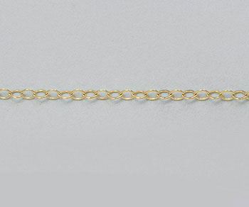 Gold Filled Chain Flat Cable 1.3mm - 10 Feet