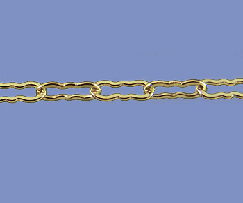 Gold Filled Chain Krinkle Small 1.5x3.6mm - 10 Feet