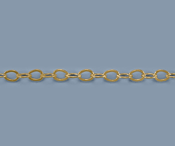 Gold Filled Chain Round Flat Cable 2.3mm - 10 Feet