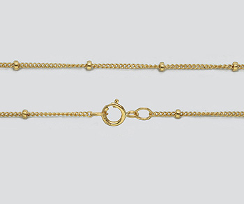 Gold Filled Chain Satellite 1mm w/1.9mm Ball - 18 inches - Pack of 1