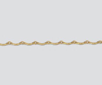 Gold Filled Curved Bar & Link Chain 7.6mm - 10 Feet