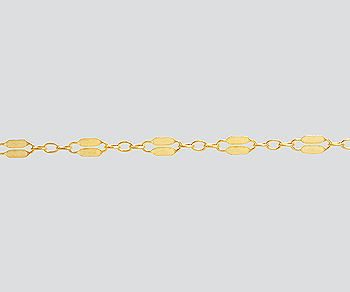 Gold Filled Dapped Long and Short Chain 2.3mm - 10 Feet