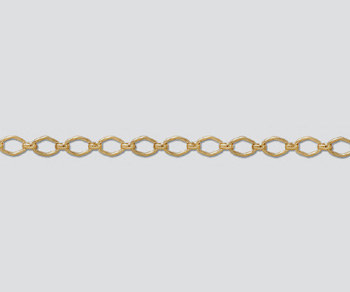 Gold Filled Diamond Long & Short Chain 5.8x3.7mm - 10 Feet