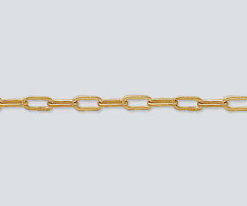 Gold Filled Drawn Cable Chain 6x2.5mm  - 10 Feet