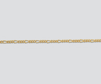 Gold Filled Figaro Chain 1.4mm - 10 Feet