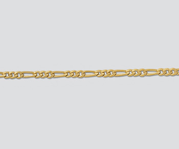 Gold Filled Figaro Chain 2.1mm - 10 Feet