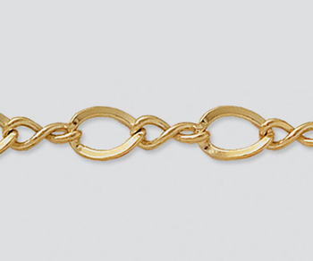 Gold Filled Figure 8 Chain 9x6mm - 10 Feet