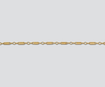 Gold Filled Flat Bar & Link Chain 3.2mm - 10 Feet