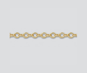 Gold Filled Flat Cable Chain 1.5mm - 10 Feet