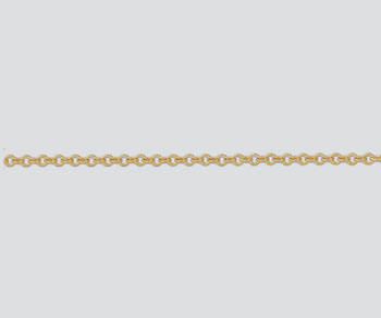 Gold Filled Flat Oval Cable Chain 3.6x2.9mm - 10 Feet